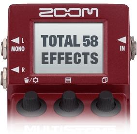 6種のアンプモデルを含む50種以上のベース用エフェクト