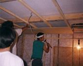 壁・天井部(床も同様に既存内側にもう一層防音室施工)