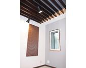 例:天井に吸音・拡散ルーバー&壁には拡散パネル(トランペット使用)