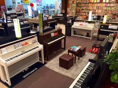 ピアノ展示コーナー
