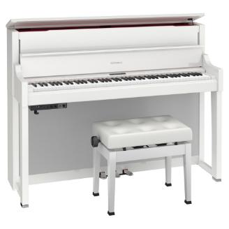 白 電子ピアノ ローランド