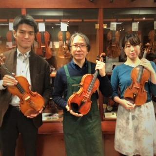 シマムラストリングス秋葉原にて、バイオリンを選定してきました。