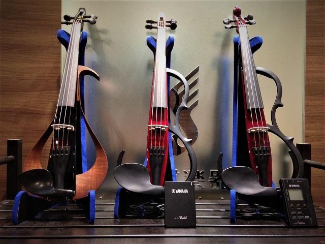 ヤマハのサイレントバイオリン&エレキバイオリン、各種揃えております。 島村楽器横浜みなとみらい店