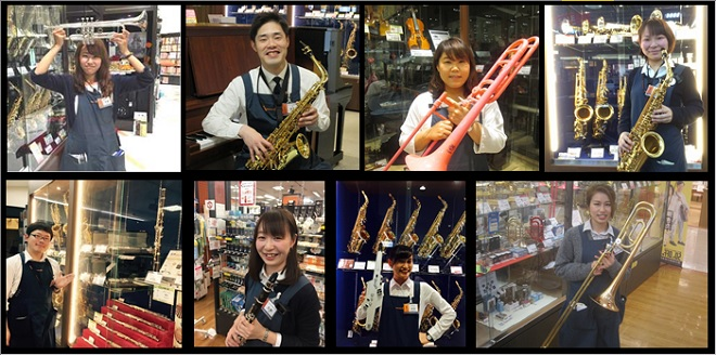 管楽器専門スタッフが楽器選びやメンテナンスを全力サポートします!