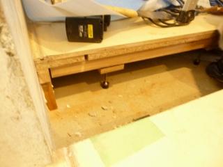 防音室施工床解体