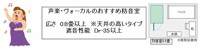 声楽・ヴォーカルおすすめ防音室