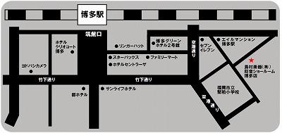 島村楽器 防音ショールーム博多店 案内地図