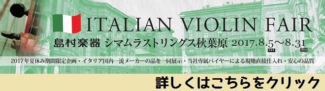 期間限定イタリアンバイオリンフェア開催中!