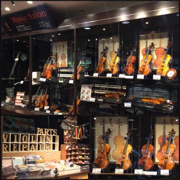 島村楽器 川崎ルフロン店 バイオリンコーナー
