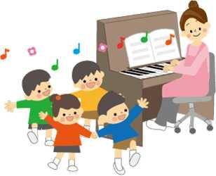 ピアノを弾く保育士さん
