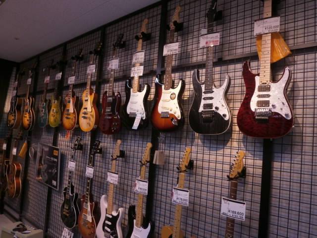 島村楽器奈良店 エレキギター売り場