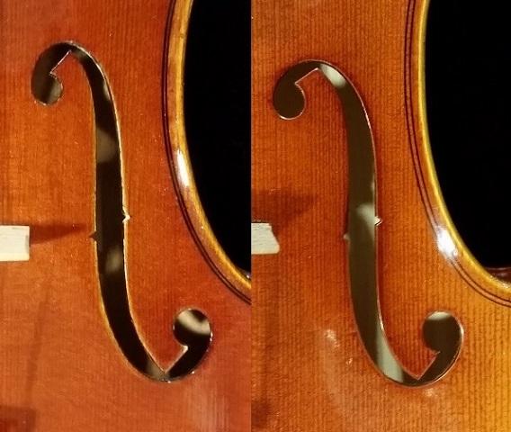 バイオリン ストラディバリモデル ガルネリモデル f字孔