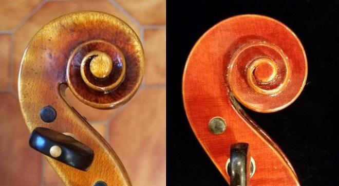 バイオリン ガルネリモデル ストラディバリモデル スクロール