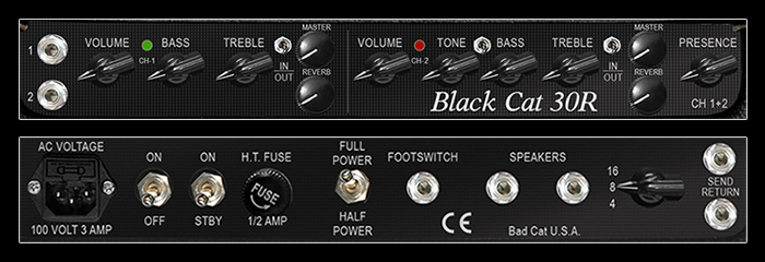 Black Cat 30R CONTROLS