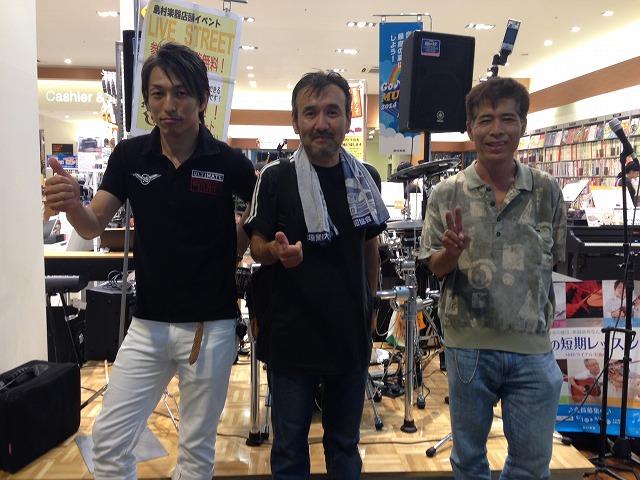 左からフライデーナイトミーティングさん、野田秀一さん、平尾辰司さん。