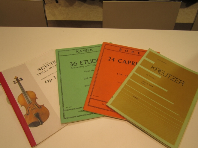 バイオリン練習曲1