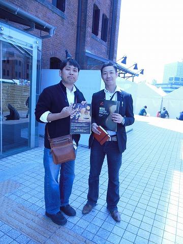 福本さんと、スタッフ桑波田