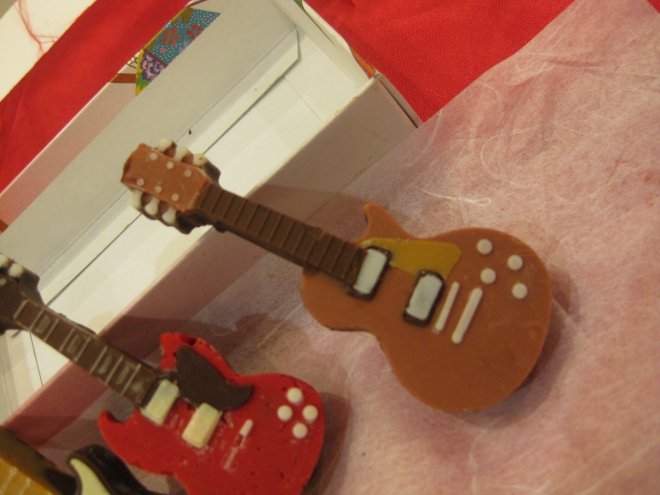 シリコントレーギターチョコ2