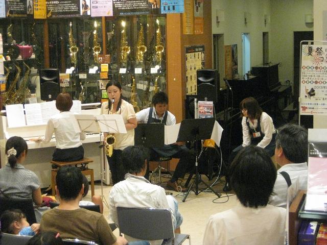 島村楽器 橿原店 イオンモール橿原 サックス ピアノ 音楽教室 生演奏
