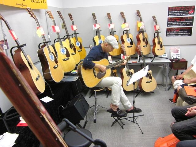 デモンストレーション ギター講師野口