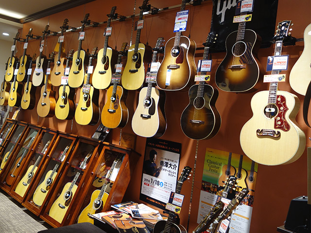 イオンモール幕張新都心店アコースティックギターコーナー
