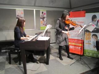 バイオリン&ピアノ演奏風景