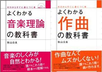 よくわかる作曲の教科書、よくわかる音楽理論の教科書(ヤマハミュージックメディア)