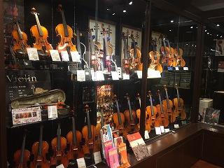 川崎ルフロン店バイオリン売り場