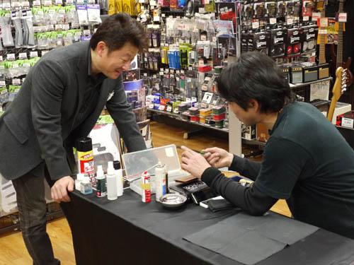 T's Guitars 高橋さん&シェクター土屋さん