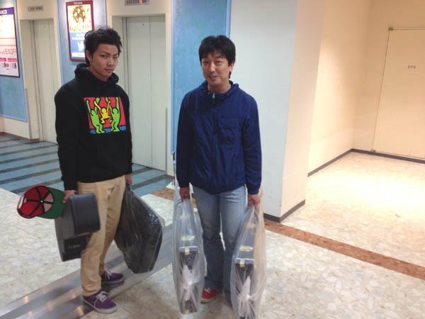 ギター担当太田と新入社員関澤