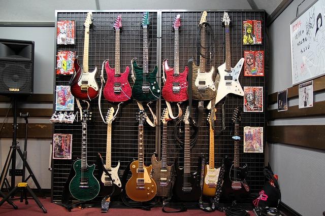 参加者のギターたち