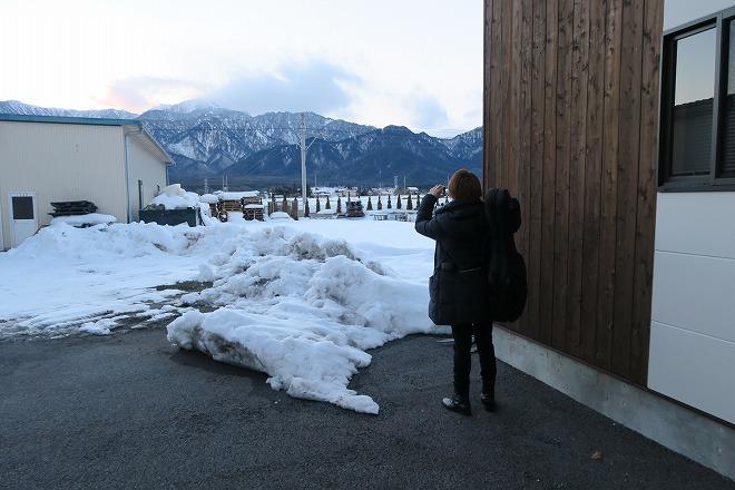 雪景色を撮影