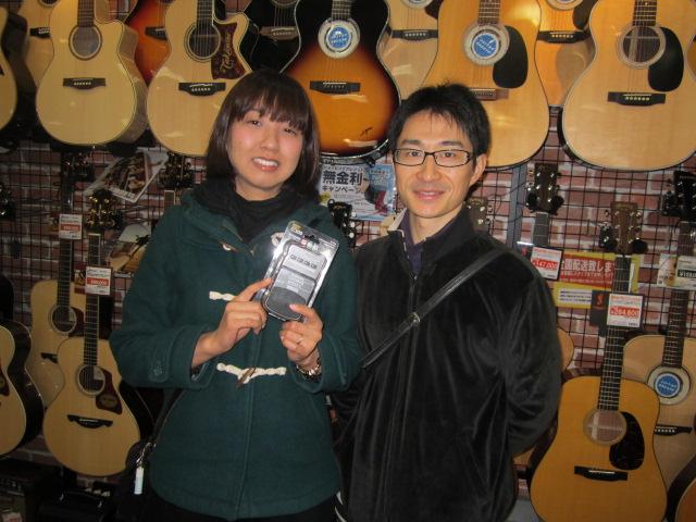 シールを集めて楽器を当てちゃおう!当選者斉藤さん