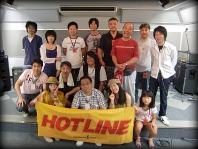HOTLINE2010奈良 月間推薦アーティスト スペシャルLIVE 出演者集合写真