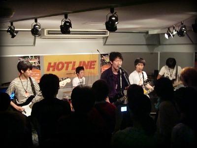 島村楽器 奈良店 HOTLINE2011 ライブ バンド Sliding Frogs