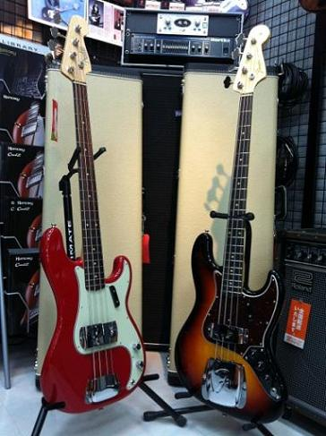 FENDER American Vintage '63 Precision Bass® American Vintage '64 Jazz Bass®