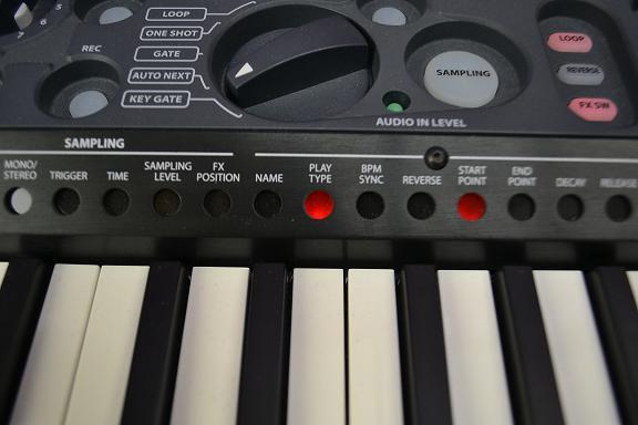 割り当てる鍵盤を選びます。