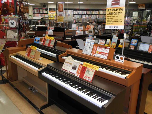 島村楽器姫路店 ピアノ売場