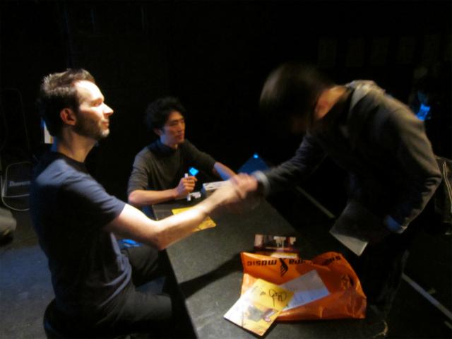 ポール氏と握手!手が大きい!
