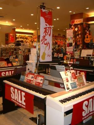 イオン日吉津店電子ピアノコーナー