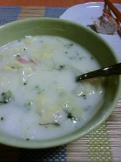 白菜のクリームシチュー