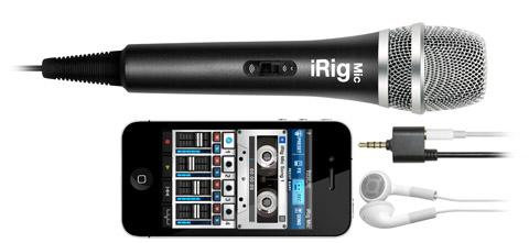 iPhone、iPod touch、iPad用コンデンサマイクロフォン