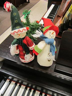 ピアノコーナーのスノーマン