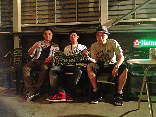 左)萩尾, 中央)DJ Choo, 右)高島
