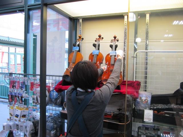バイオリン、準備中