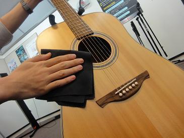 これで、ギターも綺麗に