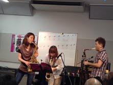 島村楽器イオンモール神戸北店藤野美由紀サックスワークショップコラボ2