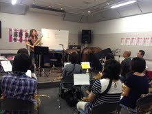 島村楽器イオンモール神戸北店 藤野美由紀サックスワークショップ参加者の様子2