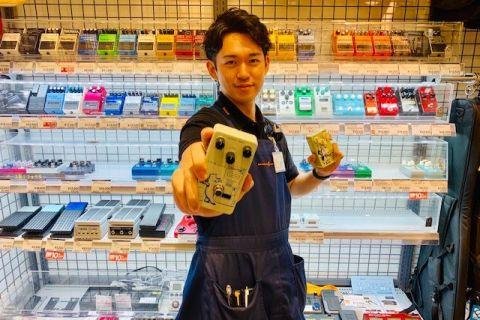 スタッフ写真エレキギター、エレキベース、アンプ、エフェクター鎌田