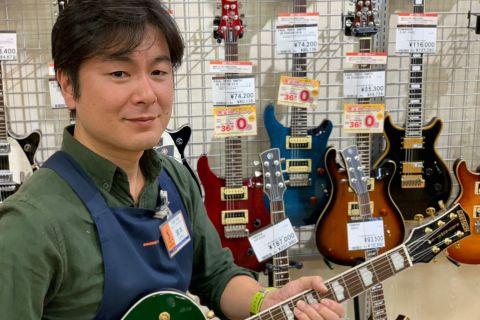 スタッフ写真副店長 ギターシニアアドバイザー瀧本